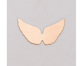 Brass Angel Wings 29mm x 16mm  24ga PKG of 6