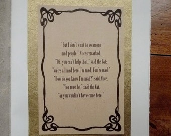 OPTION: Vintage Framed Poem, Quote, Dedication for a Journal or Guestbook, Wedding, Anniversary