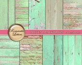 Wood Digital Paper pack  Wood  texture Scrapbook background papers Wedding and newborn digital photo backdrop Shabby Chic brick pastel prop
