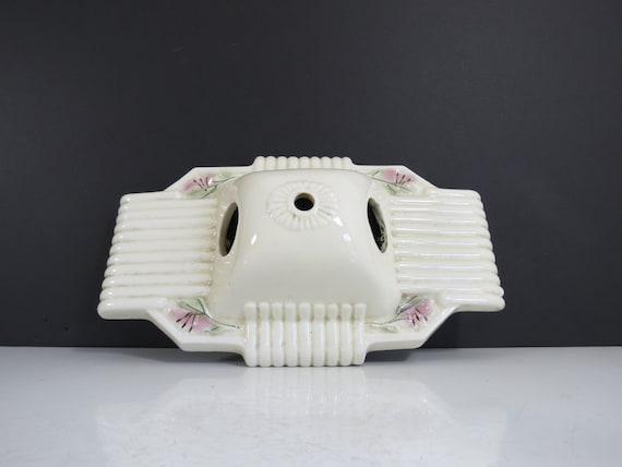Art Deco Wall Sconce Light // Antique Porcelain White by thisattic