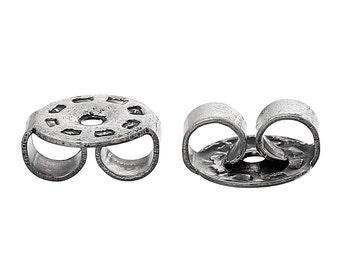 100pcs Gunmetal Ear Nuts - 6.3x5.5mm - Ships from USA, Earring Finding, Gunmetal Finding, Jewelry Making SUpplies, DIY, Jewelry Finding- E19