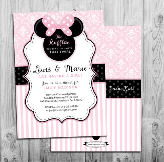 minnie mouse baby shower invitations printables minnie mouse baby