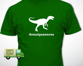 GRANDPASAURUS T-Shirt Personalized Father's Day Gift Many Colors S-XL-4XL Dinosaur Grandpa