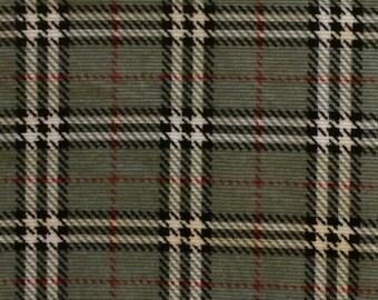 Cotton Corduroy / Gray Plaid Corduroy Fabric / Plaid Corduroy Fabric / Gray Corduroy Fabric / Plaid Corduroy Fabric