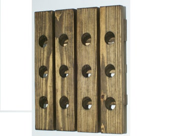 Hanging Wood Wine Rack Riddling Rack Traditional Walnut Finish