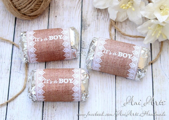 rustic baby shower favors it's a boy printable mini, Baby shower invitation