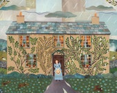 Beatrix Potter Print - Hill Top - Children's Books - Writers' Houses - Peter Rabbit - National Trust - Lake District - Gift for Booklovers