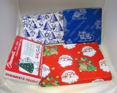 Lot of 4 Vintage Christmas Boxes Santa Tree's Sleigh's Colorful & CUTE!