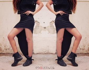 Black Skirt, Asymmetric Skirt, Festival Clothing, Sexy Black Skirt, Burning Man Festival, Boho Chic, Hippie Skirt