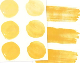Golden Yellow Watercolor Letter Seal Stickers, 9 Pack