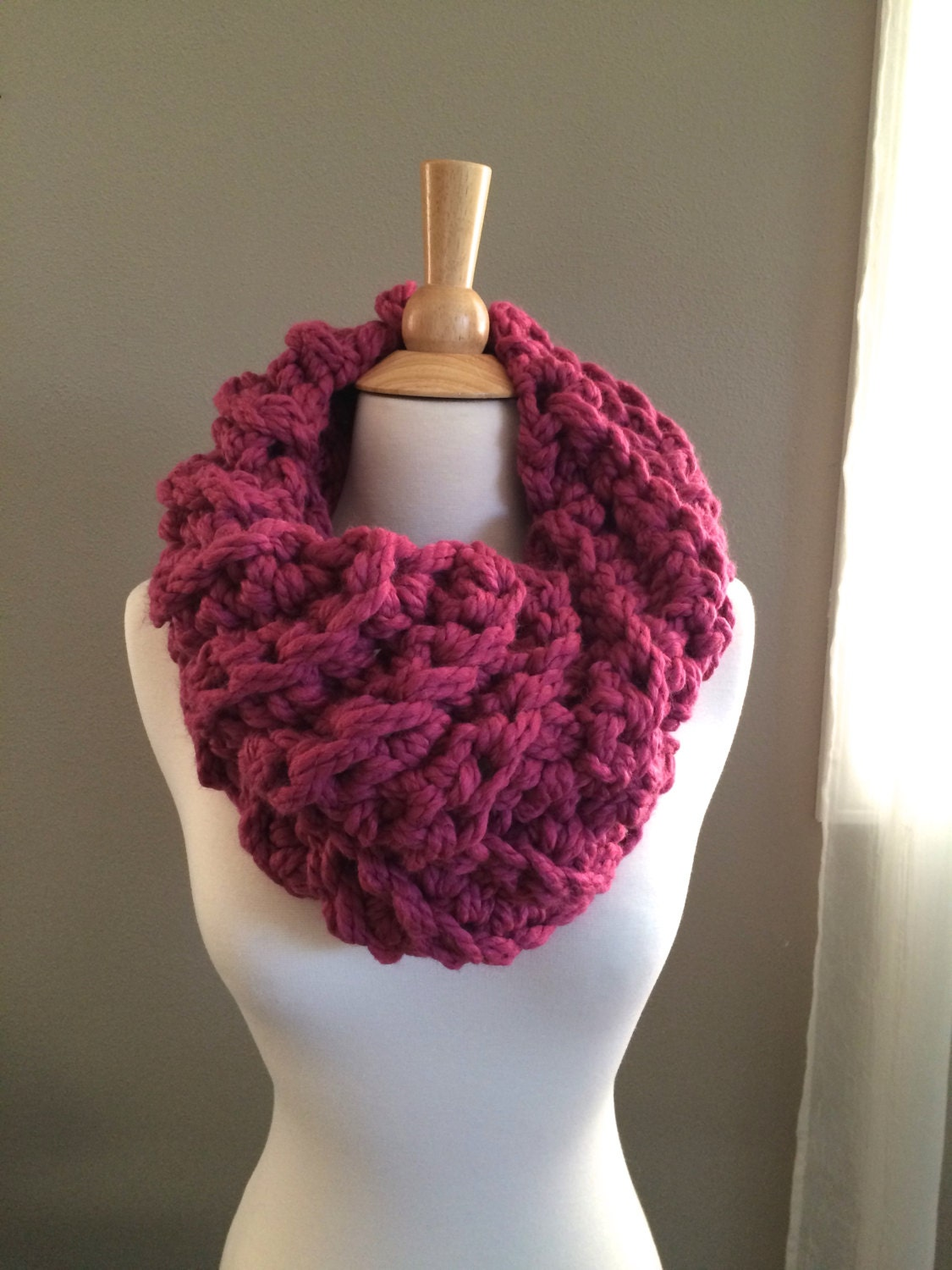 Diy crochet pattern ceces cowl super bulky cowl easy zoom bankloansurffo Choice Image