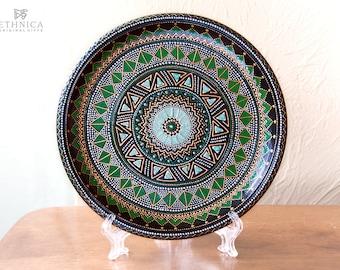 Hand painted plate / decorative plate / mandala plate / wall hangings / home decor