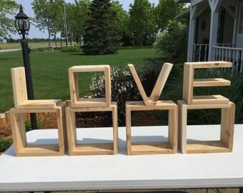 """Cedar Letter Shelves (1"""" thick)"""