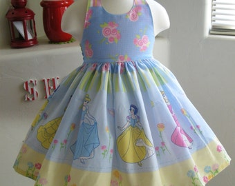Custom Made to Order Disney princess party dress Sz12m to 6T