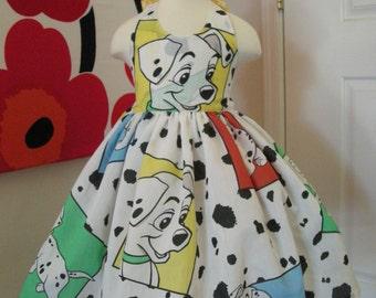 Custom Made to Order Disney 101 dalmatians party dress Sz 12m to 6T