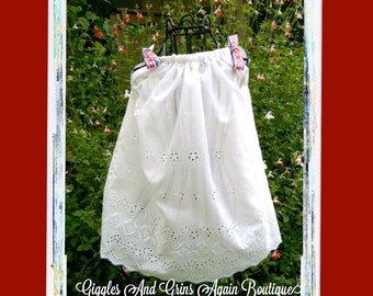 Beautiful Boutique Eyelet Pillowcase Dress for Any Occassion - 6 months Special Occassion.  Price starts at 26.00 depending on dress size.