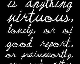 Praiseworthy - Black & White - Digital Download - Printable