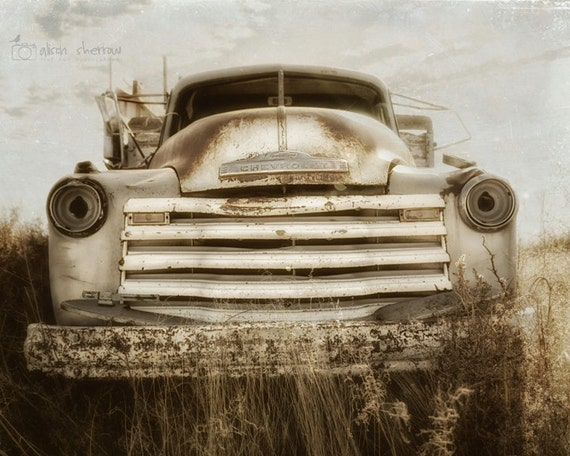 Car Photography Wall Art Rustic Home Decor Chevrolet By