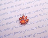 6 Clemson Tigers Charms Silver Plated University Logo Pendants