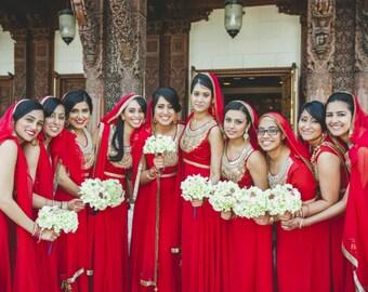 Bridesmaid Petal Brooch Bouquet