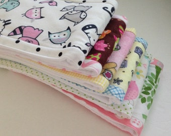 Burp Cloths, Baby Burp Rags, Diaper Burp Cloth, Baby Accessories, Baby Girl, Cotton/Flannel Burp Cloth