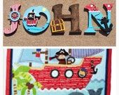 Pirate Wooden Letters, Pi...