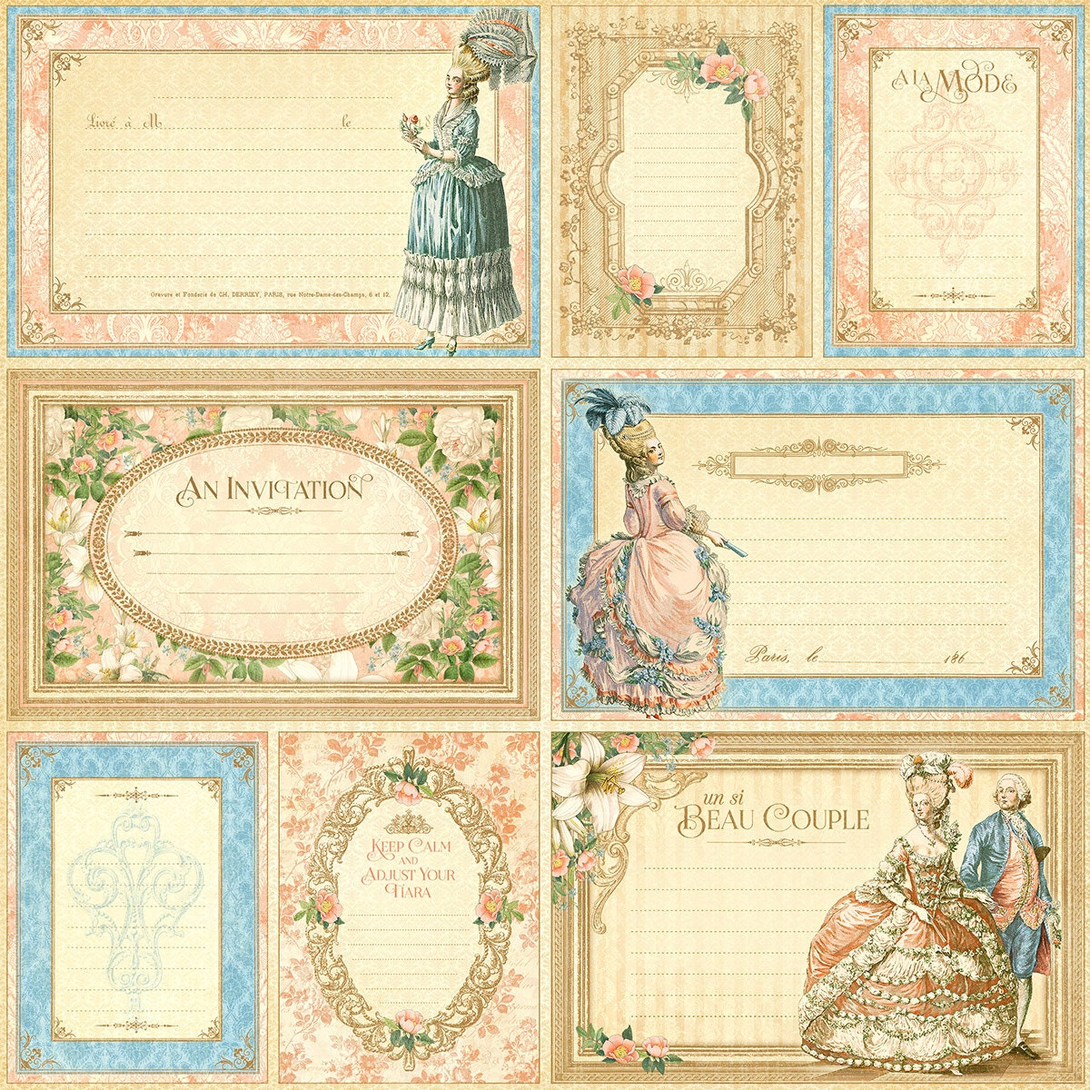 Scrapbook Paper Individual Sheets
