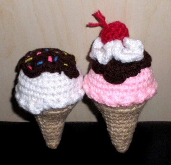 Amigurumi Ice Cream Cone : Crochet Ice Cream Cone Amigurumi by JNArts on Etsy