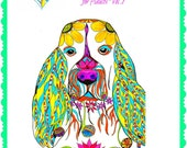 Love Dogs - Coloring Book for Adults Vol. 1 - Multiple Dogs - Bound or UnBound Book - 25 coloring pages-Single-sided pages