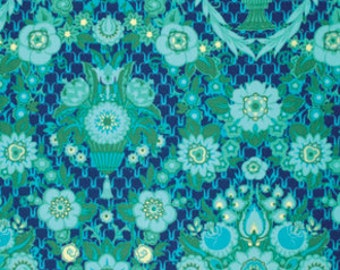 Amy Butler Fabric - 1 Fat Quarter Garden Fete in Midnight / Violette ships from Australia