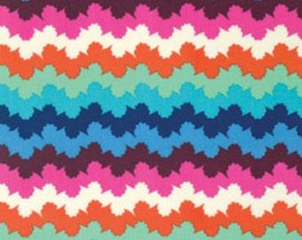 Amy Butler Fabric - 1 Fat Quarter Organic Stripe in Midnight / Violette ships from Australia