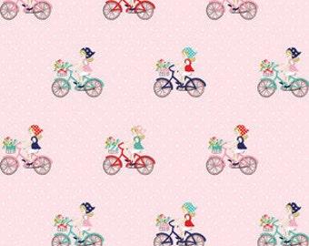 Riley Blake - Vintage Market 1 Fat Quarter Bike Ride in Pink, Tasha Noel, Ships from Australia
