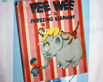 Pee Wee And The Sneezing Elephant, 1944, Action Play-Book
