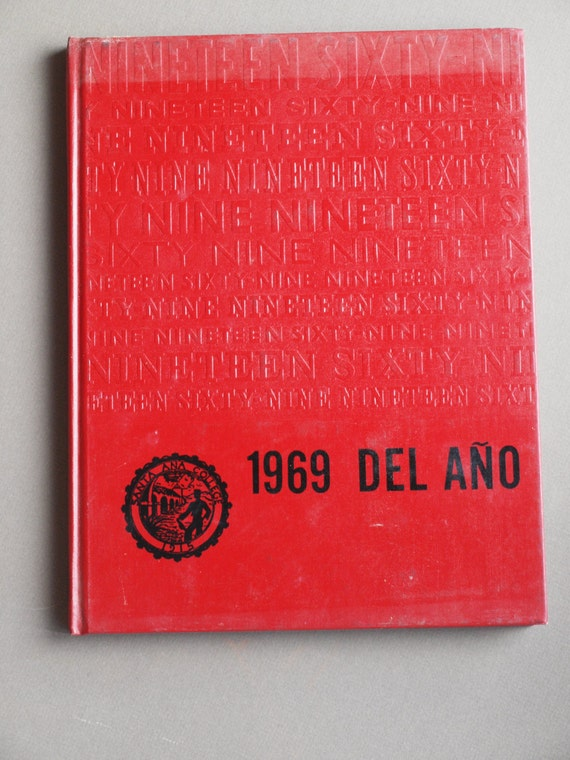 vintage 1969 santa ana college yearbook santa ana california