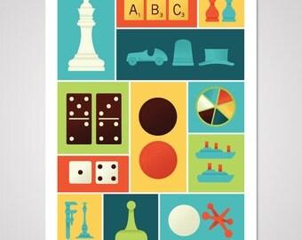 Classic Gaming - 18x24 Art Print