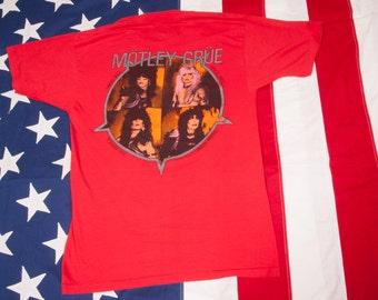 MOTLEY CRUE Metal T-Shirt Size L