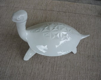 Vintage Royal Dux Porcelain Figurine, Mid Century Modern Decor, Porcelain Collectable Turtle