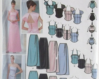 Misses Bustiers Skirt and Bag Simplicity Pattern 5953 Bridesmaid Dress Mother of the Bride Groom Dress Evening Formal Dresses Long Dress
