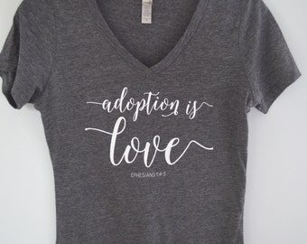 PRE-ORDER Adoption Is Love WOMENS Juniors T Tee Shirt / Mercy Ink