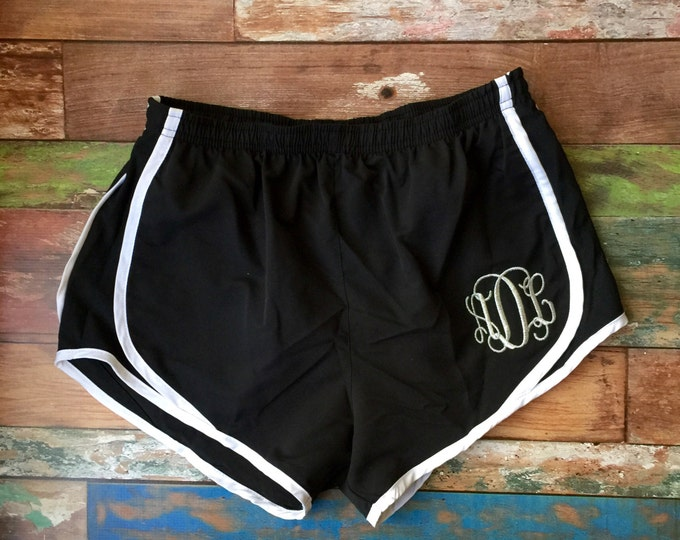 Monogrammed Running Shorts - Monogrammed Cheer Shorts - Cheerleader Shorts - Monogram Workout Shorts - Cheer Camp - Group Discounts