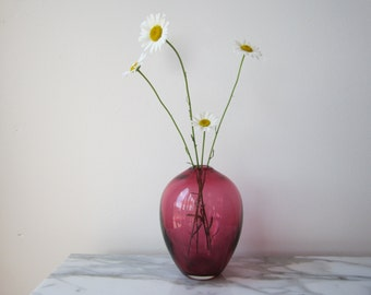 Modern Cranberry Glass Vase