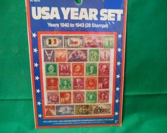One (1), Hygrade No. 1300-52,  1404-1943,  USA Year Set of Postage Stamps.