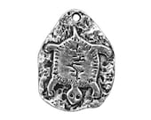 3 Petroglyph Turtle 5/8 inch ( 15 mm ) Pewter Charms