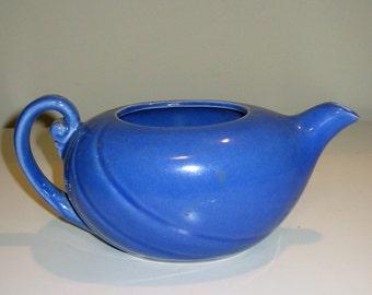 Vintage 1940s Blue Art Deco Teapot