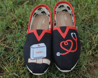Nursing Hand Painted Shoes