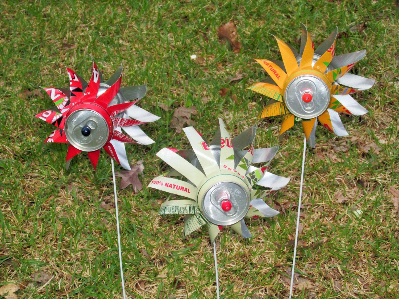 how to make garden pinwheels