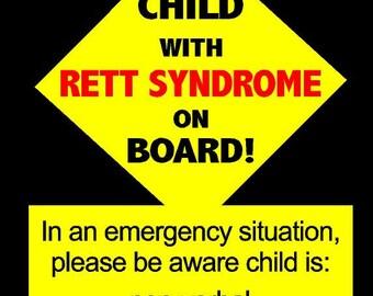 Emergency Info Decal - Rett Syndrome - Vinyl
