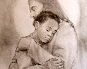 Jesus Holding a Little Boy