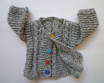 Knit baby cardigan,knit baby boy's and girl's sweater, free shipping