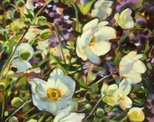 Oil Painting: Windflowers